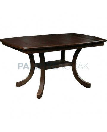 Dark Antique Polished Wooden Rustic Table