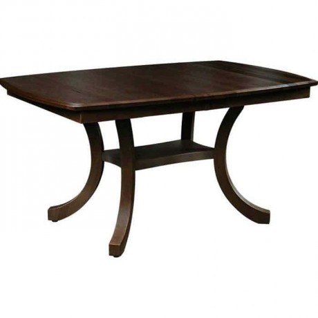 Dark Antique Polished Wooden Rustic Table - rdm11