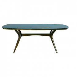 Oval Polished Wooden Rustic Table