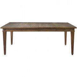 Four-legged Rustic Table with Patina