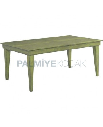 Green Patina Rustic Table