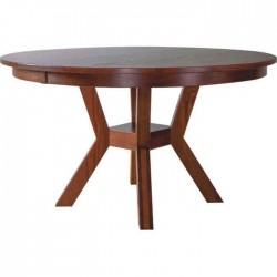 Round Wooden Rustic Table