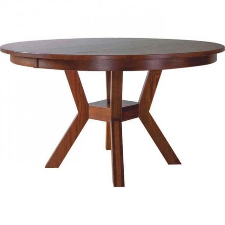 Round Wooden Rustic Table - rdm25