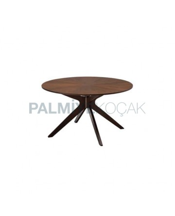 Rustic Table with Rounded Polished Coated