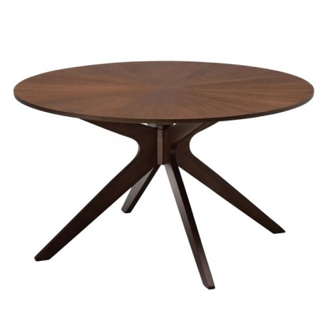 Rustic Table with Rounded Polished Coated - rdm16