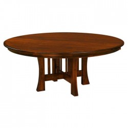 Round Rustic Dining Hall Table