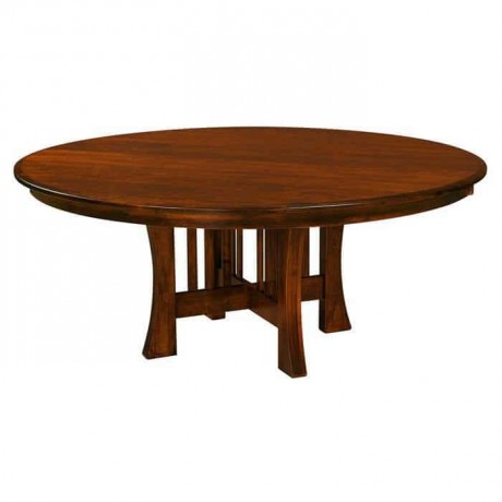 Round Rustic Dining Hall Table - rdm119