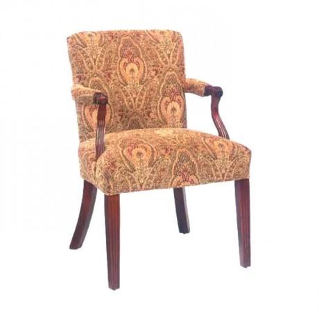 Çiçek Desenli Bek Kumaşlı Otel Sandalyesi - rsak06