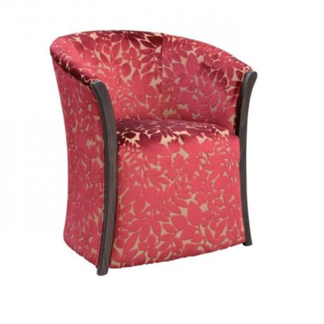 Çiçek Desenli Kumaş Döşemeli Salon Sandalyesi - rsak42