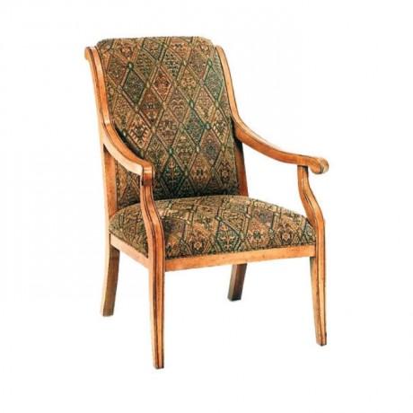 Desenli Kumaş Döşemeli Açık Eskitme Sandalye - rsak09