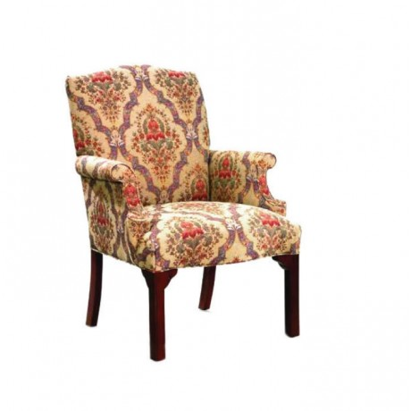 Patterned Fabric Upholstered Armchair - rsak19