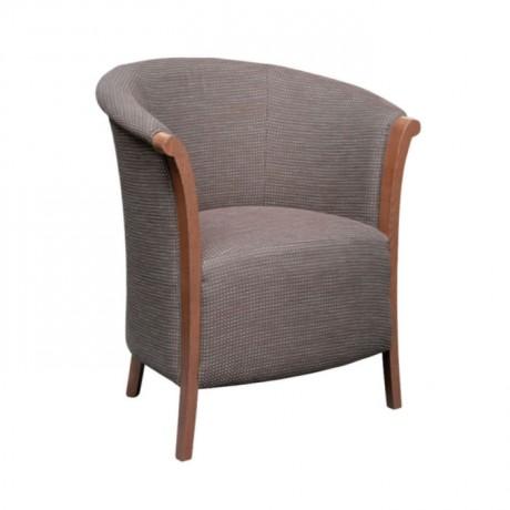 Gri Kumaş Döşemeli Ahşap Boyalı Sandalye - rsak46