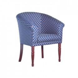 Blue Stripe Hotel Armchair