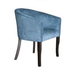 Blue Upholstred Cafe Armchair