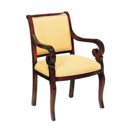 Sarı Döşemeli Kollu Rustik Sandalye - rsak18