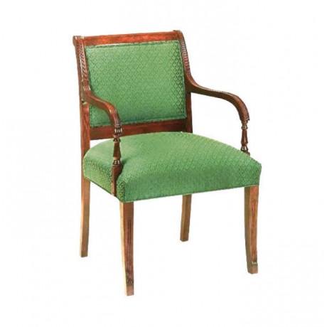 Green Fabric Tumbled Arm Chair - rsak11