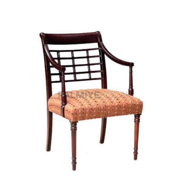 Ahşap Rustik Tornalı Kollu Sandalye