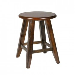 Antique Painted Round Conical Legs Wooden Stool