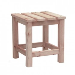 Square Wood Stool