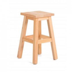 Conical Pine Wood Stool