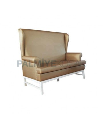 Golden Colored Leather Upholstered Cafe Booths