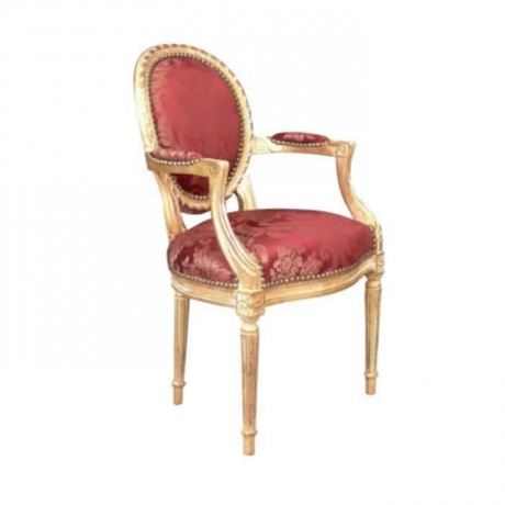 Gold-plated Painted Turned Classic Armchair - ksak119