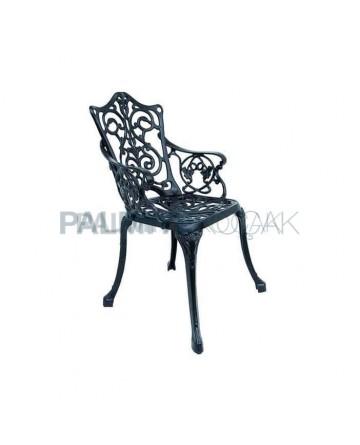 Demir Alüminyum Döküm Restoran Kollu Bahçe Sandalyesi