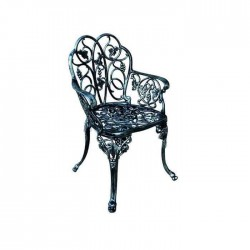 Classic Carving Patterned Hotel Restaurant Iron Casting Arm Chair