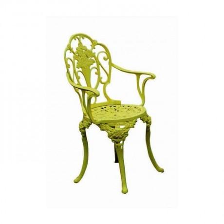 Yeşil Renkli Alüminyum Döküm Sandalye - dks9004
