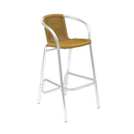 Alüminyum Hasırlı Bahçe Bar Sandalyesi - alb19