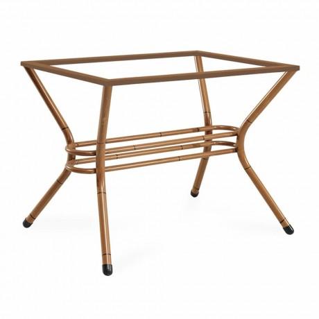 İkili Bambu Boyalı Alüminyum Masa Ayağı - Metal Masa Ayakları