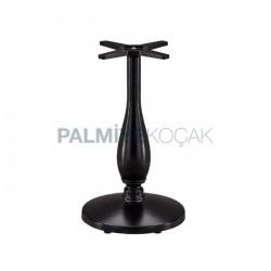 Black Cast Aluminum Table Leg