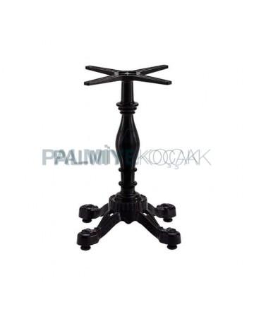 Single Black Cast Table Leg