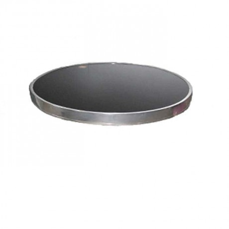 Framed Stainless Round Table Top - atm03