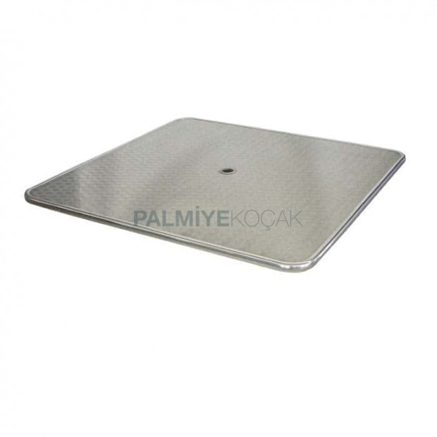 Stainless Garden Table Top wih Square Umbrella