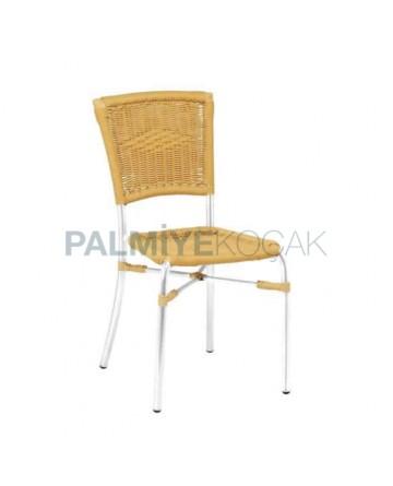 Alüminyum Örgülü Cafe Sandalyesi