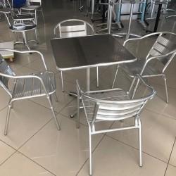 Aluminum Chair Table Set