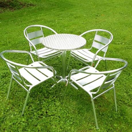 Yuvarlak Masa Alüminyum Sandalye Masa Takım - asm02