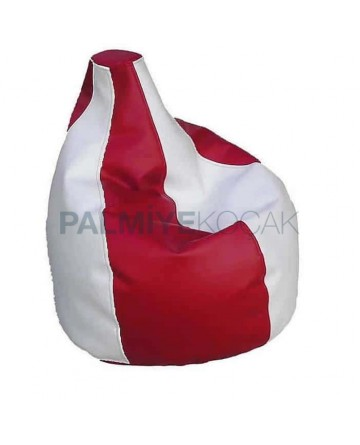 Red White Leather Pear Cushion