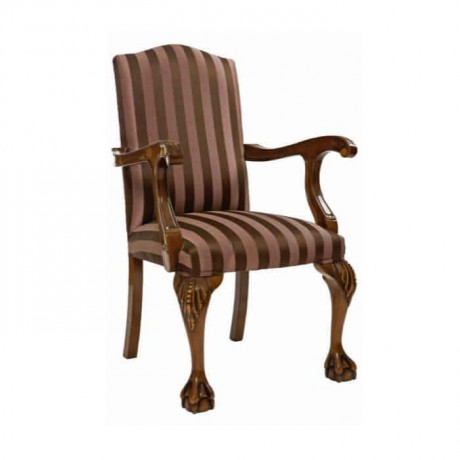Aslan Ayak Oymalı Klasik Kollu Sandalye - ksak111