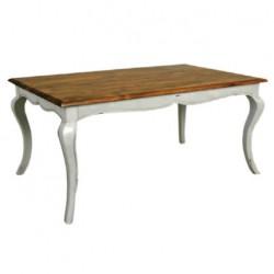 Avangard Table with White Painted Lukens Leg