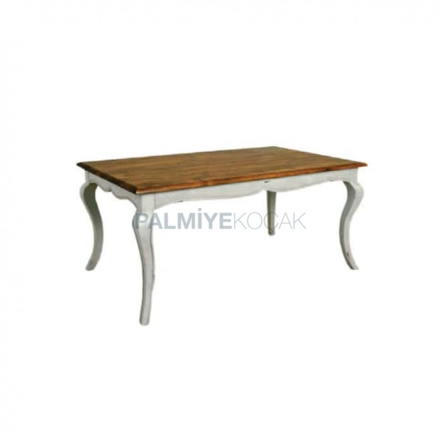 Avangard Table with White Painted Lukens Leg