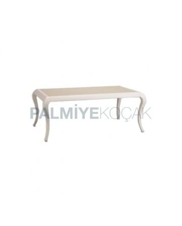 Beyaz Lake Boyalı Salon Avangard Masası