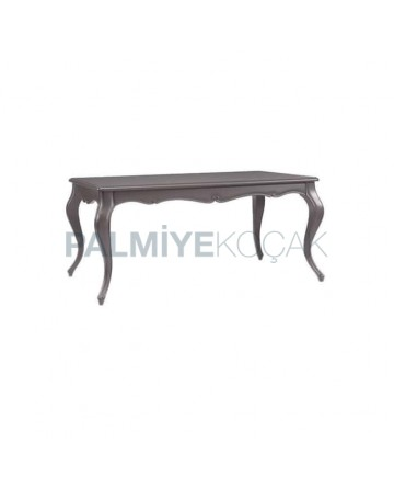Gray Painted Table with Lukens Leg