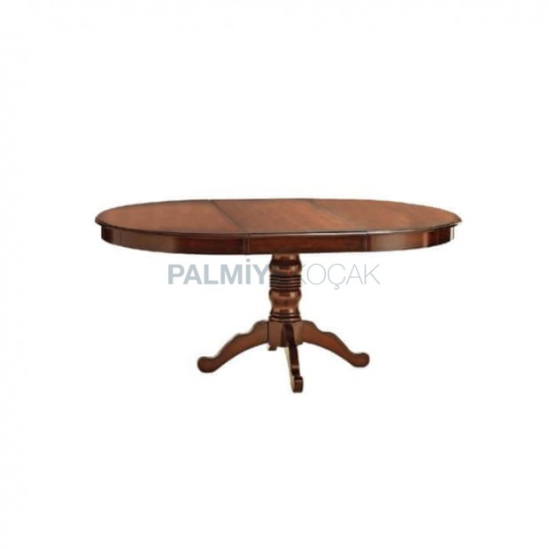 Avangard Table with Oval Turned Leg