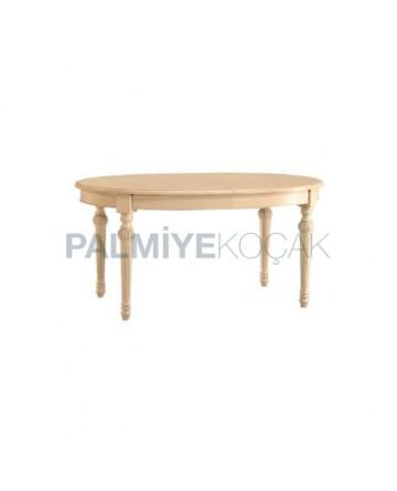 Torna Ayaklı Oval Salon Masası