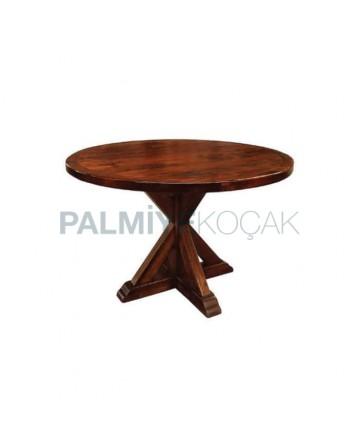 Round Cross Leg Restaurant Table