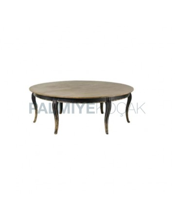 Large Dining Table with Round Lukens Leg