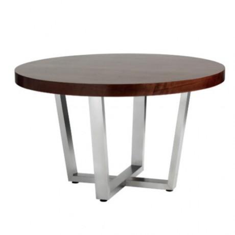 Yuvarlak Metal Ayaklı Hotel Masası - avg3061