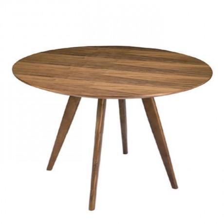 Yuvarlak Tablalı Torna Ayak Cafe Masası - avg3048